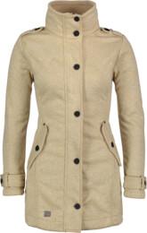 Women's beige sweater softshell parka PALATIAL - NBWSL6598