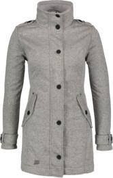 Women's grey sweater softshell parka PALATIAL - NBWSL6598
