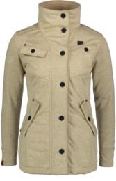 Béžový dámský svetrový softshellový kabát DUE - NBWSL6599
