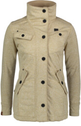 Women's beige sweater softshell parka DUE - NBWSL6599