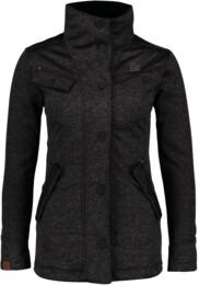 Černý dámský svetrový softshellový kabát DUE - NBWSL6599