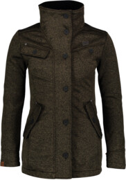 Women's khaki sweater softshell parka DUE - NBWSL6599