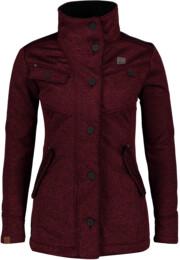 Vínový dámský svetrový softshellový kabát DUE - NBWSL6599