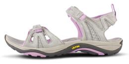 Béžové dámske kožené sandále KUKY - NBSS53