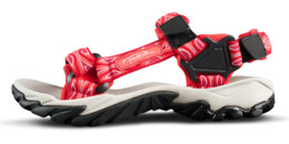 Women's red outdoor sandal VOYAGE - NBSS54