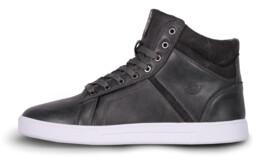 Šedé pánske kožené topánky GAZE - NBHC6875