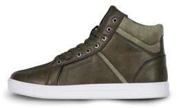 Khaki pánske kožené topánky GAZE - NBHC6875