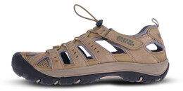 Béžové pánske kožené outdoorové sandále ORBIT - NBSS70