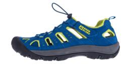 Men's blue outdoor leather sandal ORBIT
