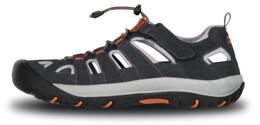 Men's grey outdoor leather sandal ORBIT