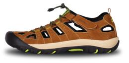 Sandale bej din piele outdoor pentru bărbați ORBIT - NBSS70