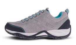 Šedé dámské kožené outdoorové boty MAIN LADY - NBLC81