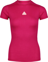 Women's pink baselayer merino t-shirt RELATION - NBWFL6872