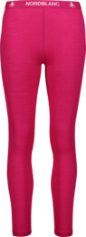 Women's pink baselayer merino tights RAPPORT - NBWFL6874