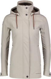 Béžový dámsky zateplený softshellový kabát PALATE - NBWSL6998