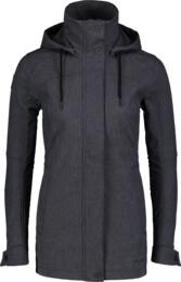 Šedý dámský zateplený softshellový kabát PALATE