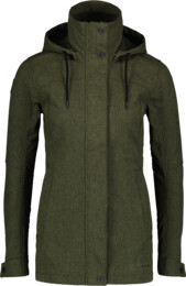 Women's khaki softshell parka with fleece PALATE - NBWSL6998