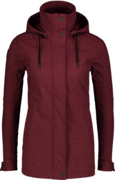 Women's wine red softshell parka with fleece PALATE - NBWSL6998