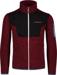 Men's wine red sweater fleece HEFTY