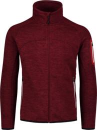 Men's wine red sweater fleece VARIED