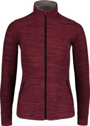 Women's wine red double fleece jacket FEELING