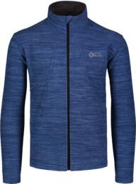 Kék férfi dupla fleece melegítőfelső BOAST