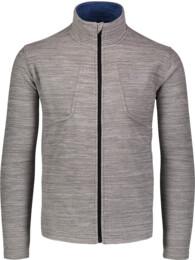 Men's grey double fleece jacket BOAST