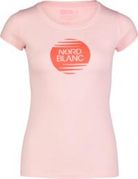 Rózsaszín női pamut póló NOTCH