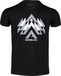 Čierne pánske bavlnené tričko WOODS - NBFMT7040
