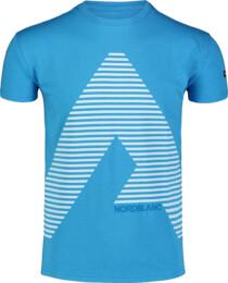 Modré pánske bavlnené tričko ACHIEVE - NBFMT7041