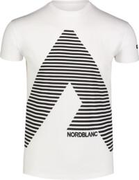 Biele pánske bavlnené tričko ACHIEVE - NBFMT7041