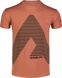 Hnedé pánske bavlnené tričko ACHIEVE - NBFMT7041