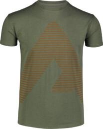 Zelené pánske bavlnené tričko ACHIEVE - NBFMT7041