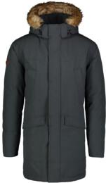 Šedý pánsky zimný kabát AVERT - NBWJM6908