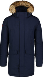 Modrý pánsky zimný kabát AVERT - NBWJM6908