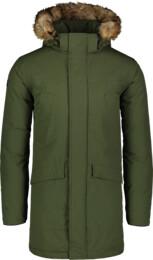 Zelený pánsky zimný kabát AVERT - NBWJM6908