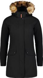 Čierny dámsky zimný kabát PROFUSE