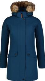 Modrý dámský zimní kabát PROFUSE