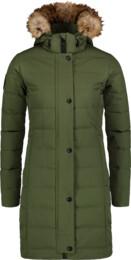 Zelený dámský péřový kabát CHILLY