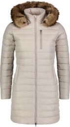 Béžový dámský péřový kabát CRAVE