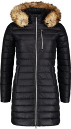 Černý dámský péřový kabát CRAVE