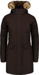 Hnědý dámský péřový kabát GELID - NBWJL6941