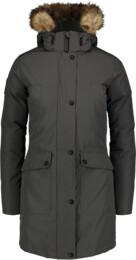 Šedý dámský péřový kabát GELID - NBWJL6941