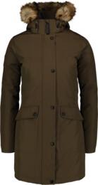 Zelený dámský péřový kabát GELID - NBWJL6941