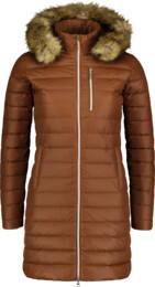 Hnědý dámský péřový kabát CRAVE