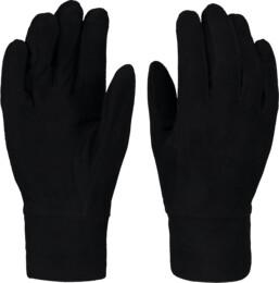 Čierne detské fleecové rukavice GRAND