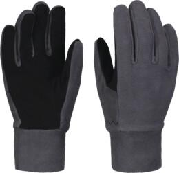 Šedé detské fleecové rukavice GRAND