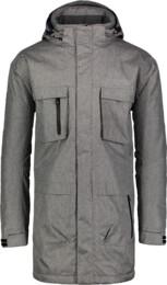 Šedý pánsky zimný kabát URBAN - NBWJM4506A