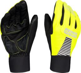Yellow softshell gloves GRAB - NBWG6361
