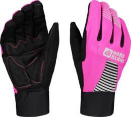 Pink softshell gloves GRAB - NBWG6361
